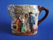 Rare Royal Doulton Dickens Series G 'Peggotty' Relief Moulded Jug D6292 c1950